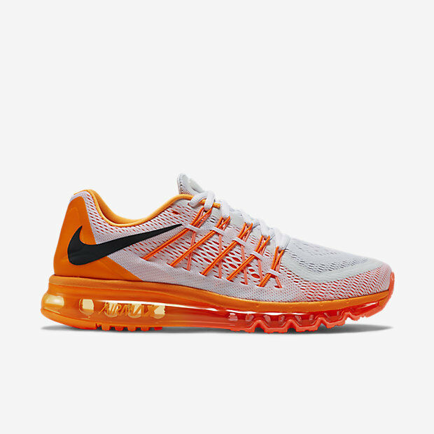 Size 6 Nike White Men Air Max 2015 698902 102 White Nike Orange Black 4da2fb