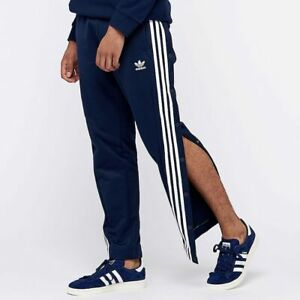 Details about Adidas Originals Snap Track Pants UK Size XL New Tracksuit Bottoms Navy White