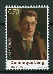 Luxembourg-2019-neuf-sans-charniere-Dominique-Lang-100th-Memorial-1-V-Set-Art-peintures-timbres