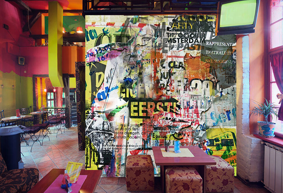 3D Graffiti 41 Parete Murale Foto Carta da parati immagine sfondo muro stampa