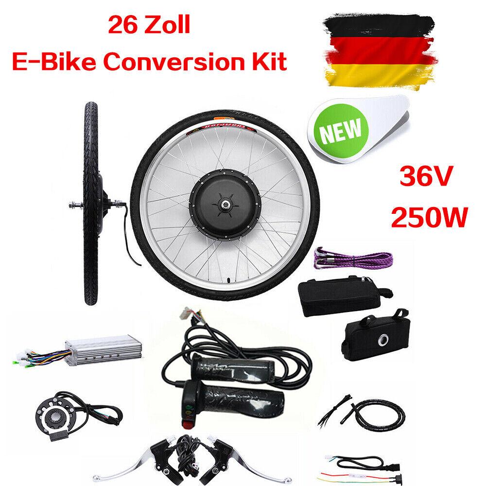 36V 250W 26   Elektro-Fahrrad Kit E-Fahrrad Fahrrad Umwandlung Kit Vorderrad Umbausatz