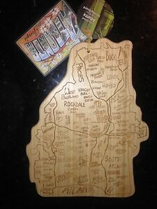 Totally Bamboo Atlanta Georga Laser Etched Cutting & Serving Board (20-8036AT)