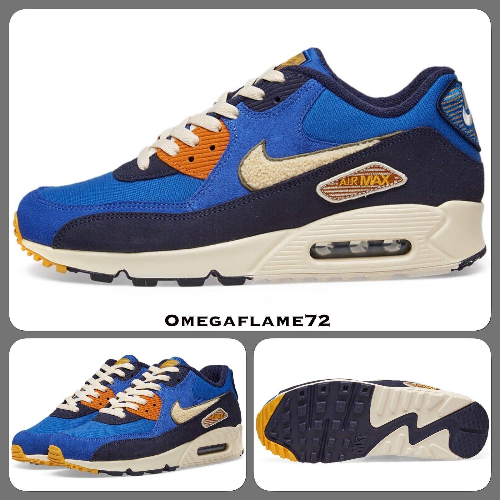 Nike Air Max 90 Premium, 858954-400, UK 6, EU 40, US 7, Game Royal, Camper