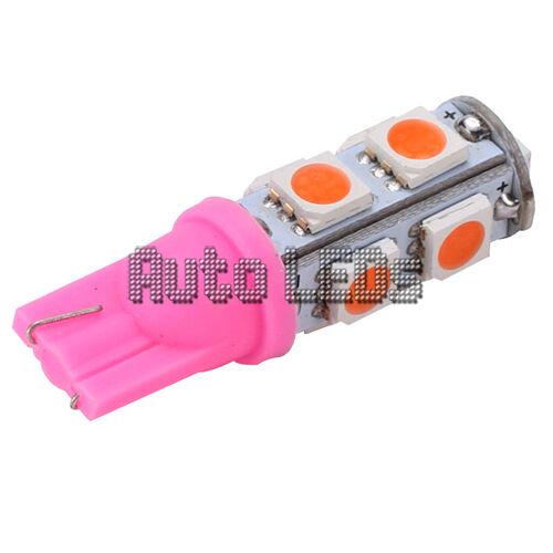 1 ROSE 9 X 5050 DEL T10 Wedge 12 V Intérieur Ampoule DEL