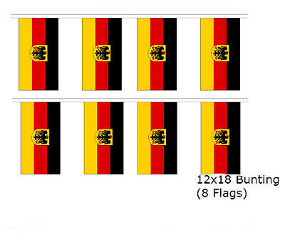 Romania Romanian 12x18 Rough Tex Knitted Bunting String Flag Banner 8 Flags