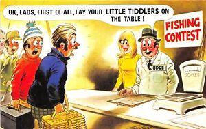 POSTCARD-COMIC-BAMFORTH-FISHING-Little-Tiddlers