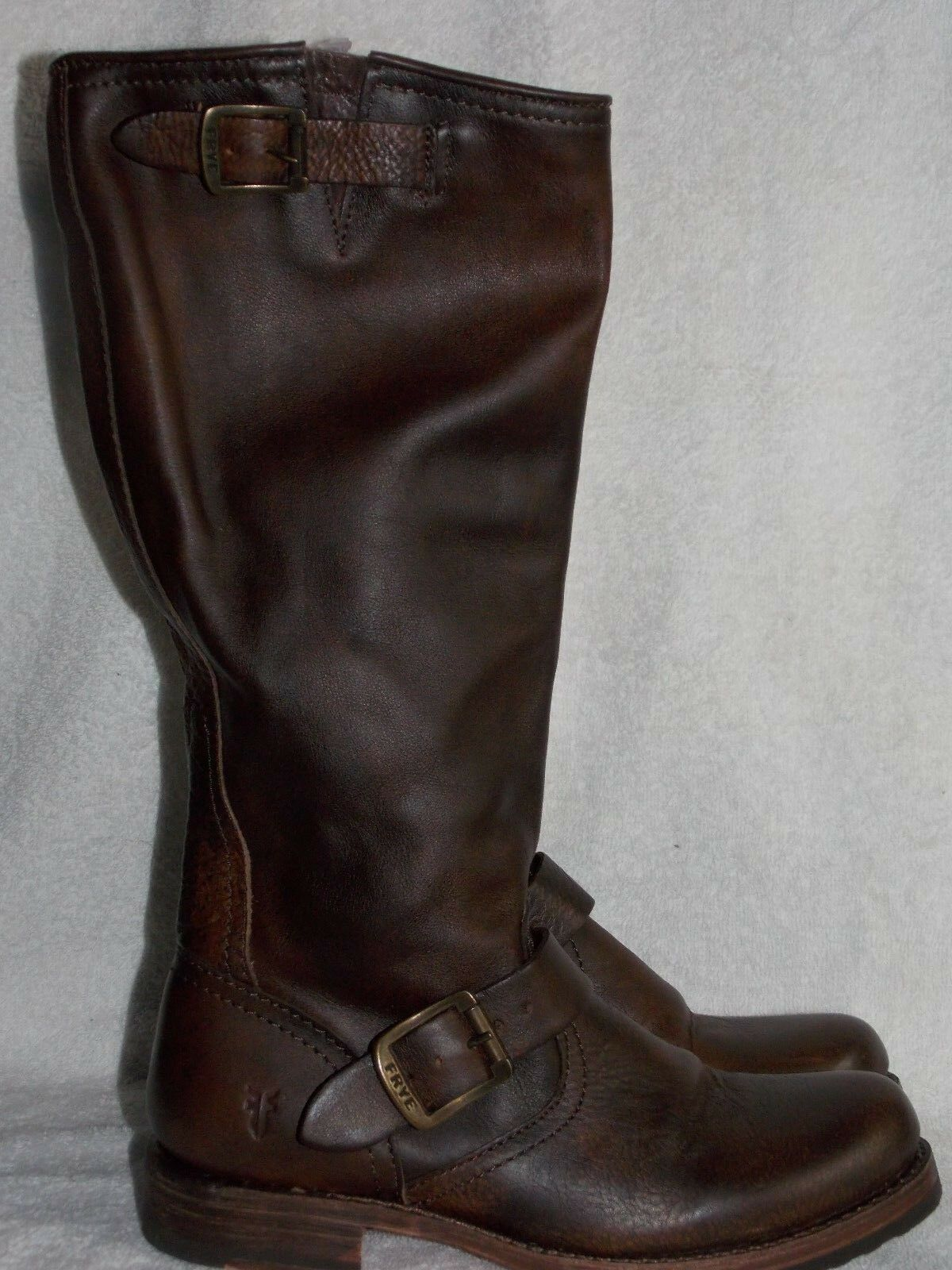 Frye marrone VERONICA Pull On Stivali 6B For Donna Used Used Donna