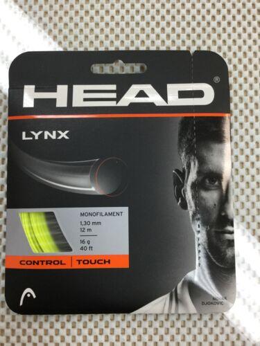 6 Sets Head Lynx Tennis String 16 Gauge 1.30mm Yellow