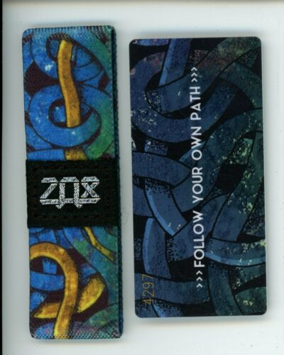 Details about  /Medium ZOX Silver Strap FOLLOW YOUR OWN PATH Wristband with Card Reversible