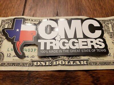 Red Black Blue Genuine CMC Triggers Logo Sticker Decal Texas White