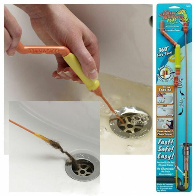 Drain Weasel Sink Cleaner Drain Unblocker for Clean Hair &Waste Kitchen Bathroom