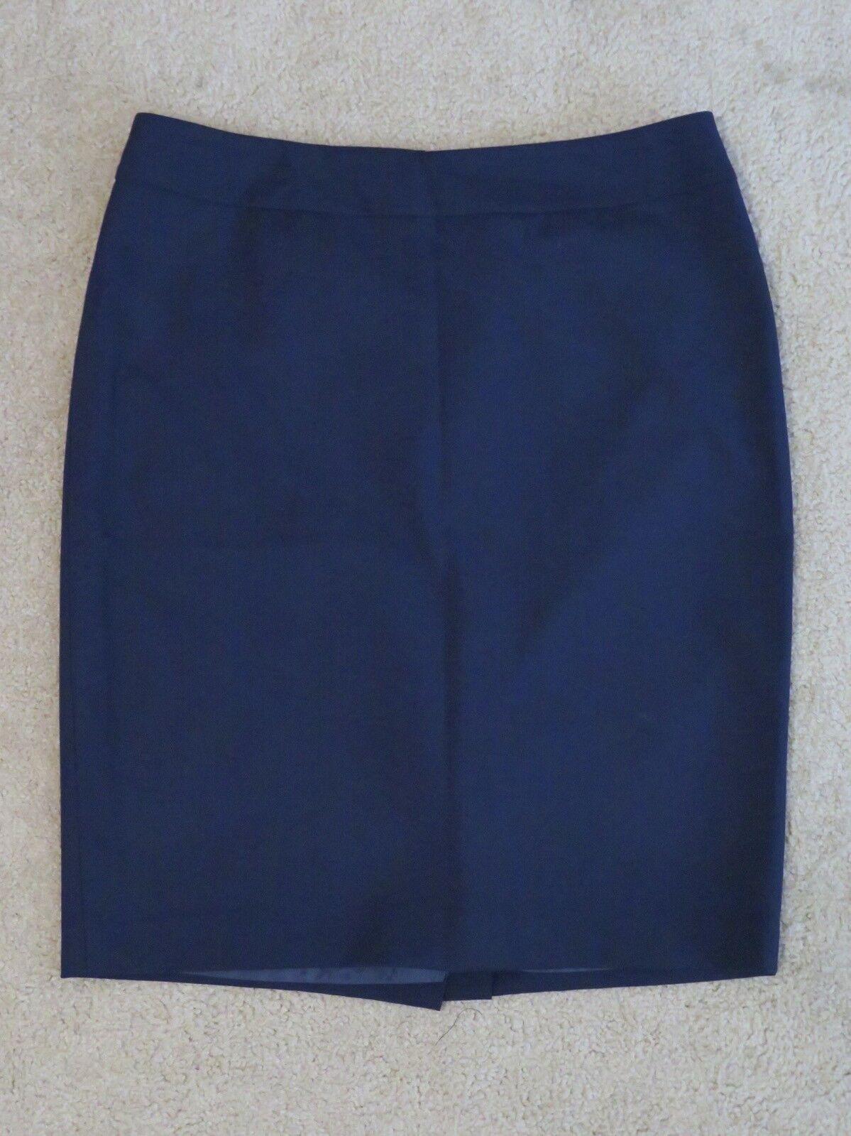 "New Women's Jones New York Collection Stretch ""Lucy  Skirt Navy bluee Hem Size 10"