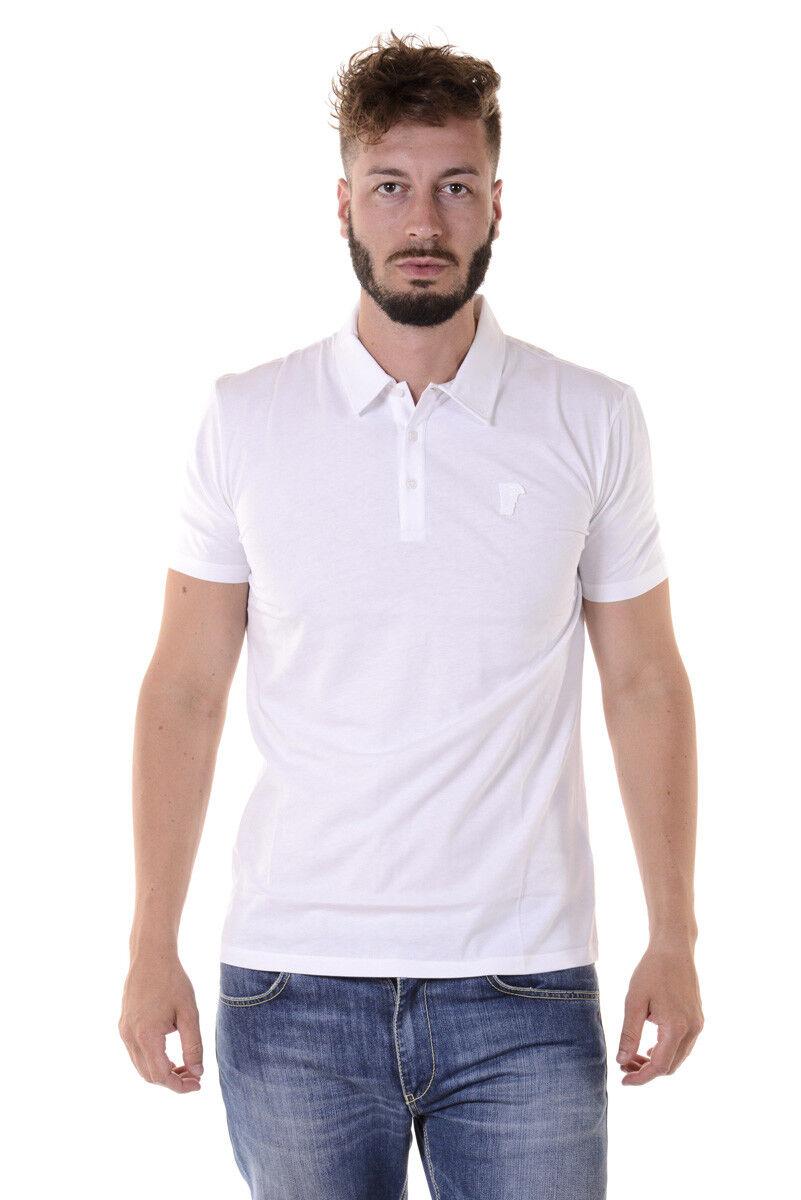 Polo Versace Collection Shirt Cotone Uomo Bianco V800708VJ00180 V1003