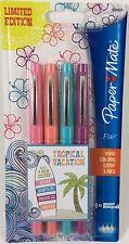 Paper Mate Flair Medium Point Felt Tip Pens 4 Pk Tropical Vacation Limited Ed.