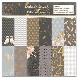 12X Floral Paper Pad Single-sided Origami Card Album Making Scrapbooking Crafts