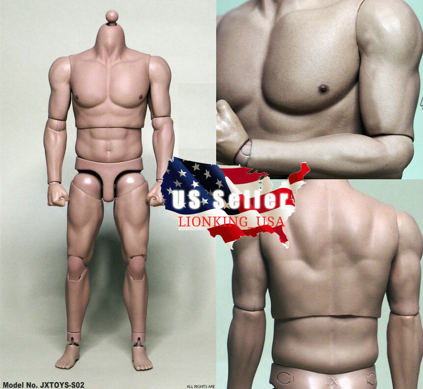 1 6 Scale Male Strong Muscular Body JXtoys S02 For Ganghood 12  Figure ❶USA❶