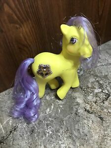 "Vintage G1 My Little Pony Princess ""Starburst"" Hasbro Tinsel Hair Yellow"