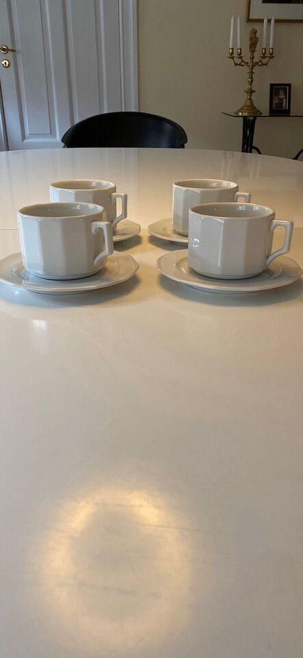 Porcelæn, Store kaffekopper. Cafe ' Latte, Pillivuit