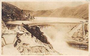 C70-Boise-Idaho-Id-Real-Photo-RPPC-Postcard-Arrow-Rock-Dam-Lubken-Image-c1910