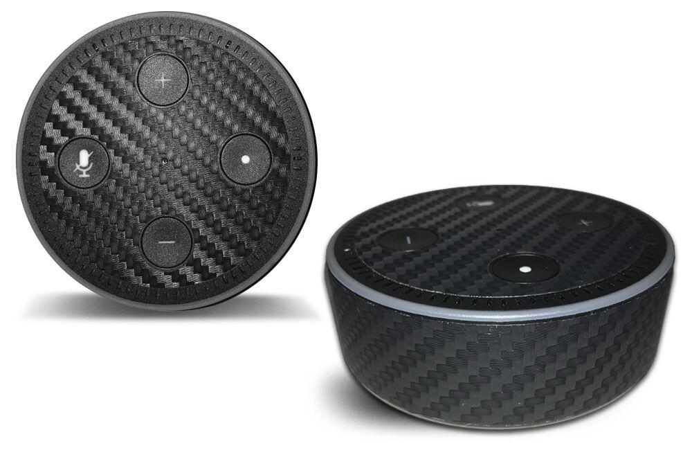Skin Decal Wrap for the Amazon Echo Dot 2nd Gen Alexa Stickers CARBON FIBER