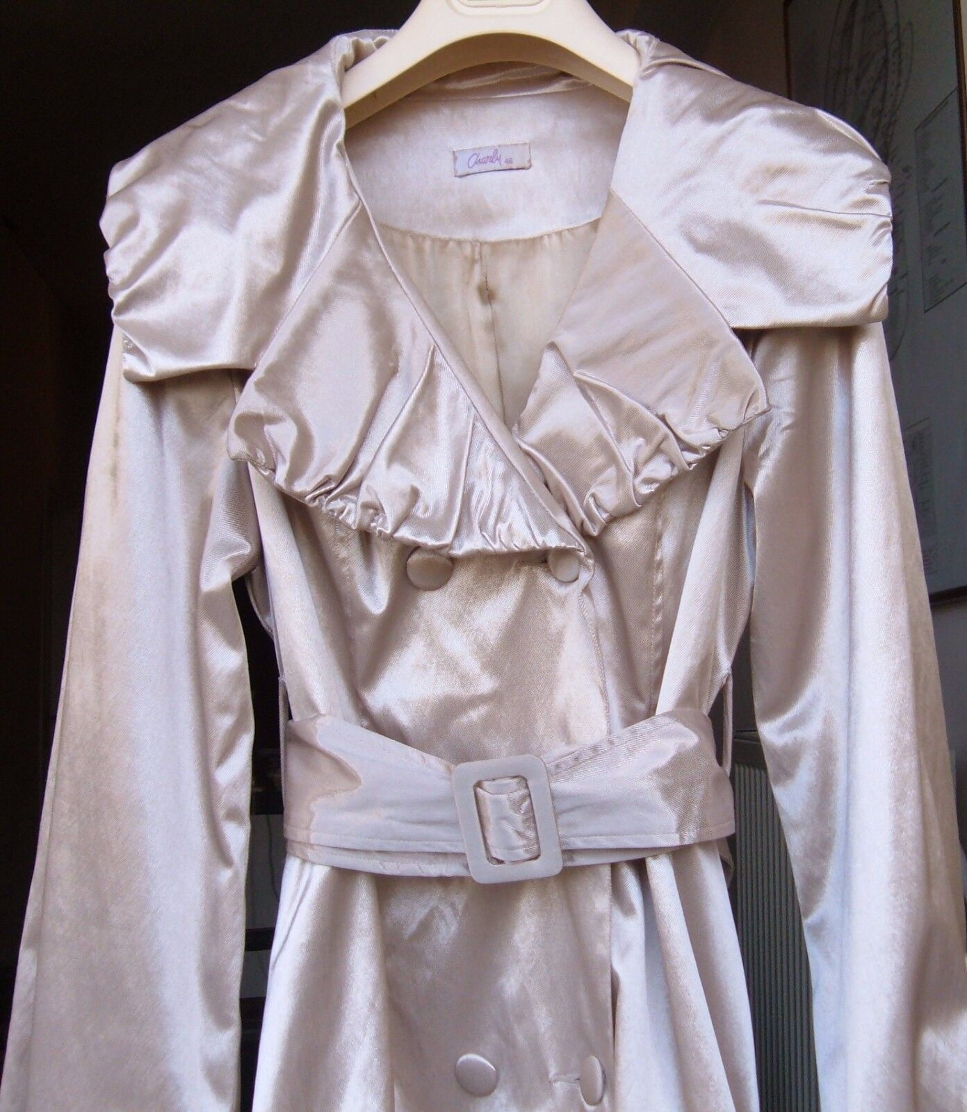 EXC+++MINT    BRIGHT gold gold gold COLOR  AND SHINY (NOT YELLOW COLOR) WOMEN GABARDINE 18170a