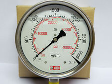 High Pressure Gauge 3000 Bar 42500 Psi Gly Filled Ss Body Common Rail Appl