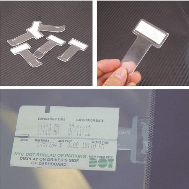 2pcs Car Vehicle Parking Ticket Permit Holder Clip Sticker Windscreen Window E7