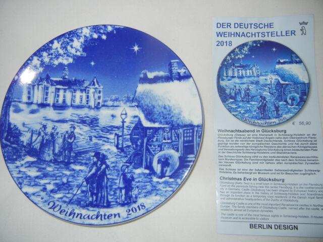 BERLIN DESIGN   Weihnachtsteller 2018 Glücksburg NEU mit Prospekt !!