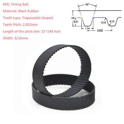 MXL Rubber Pulley Timing Belt Close Loop Synchronous Belt B206//B210//B212//B215