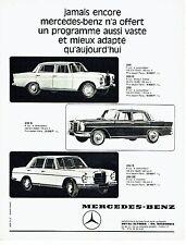 PUBLICITE ADVERTISING 126  1966   Mercedes-Benz   200 230s 250s