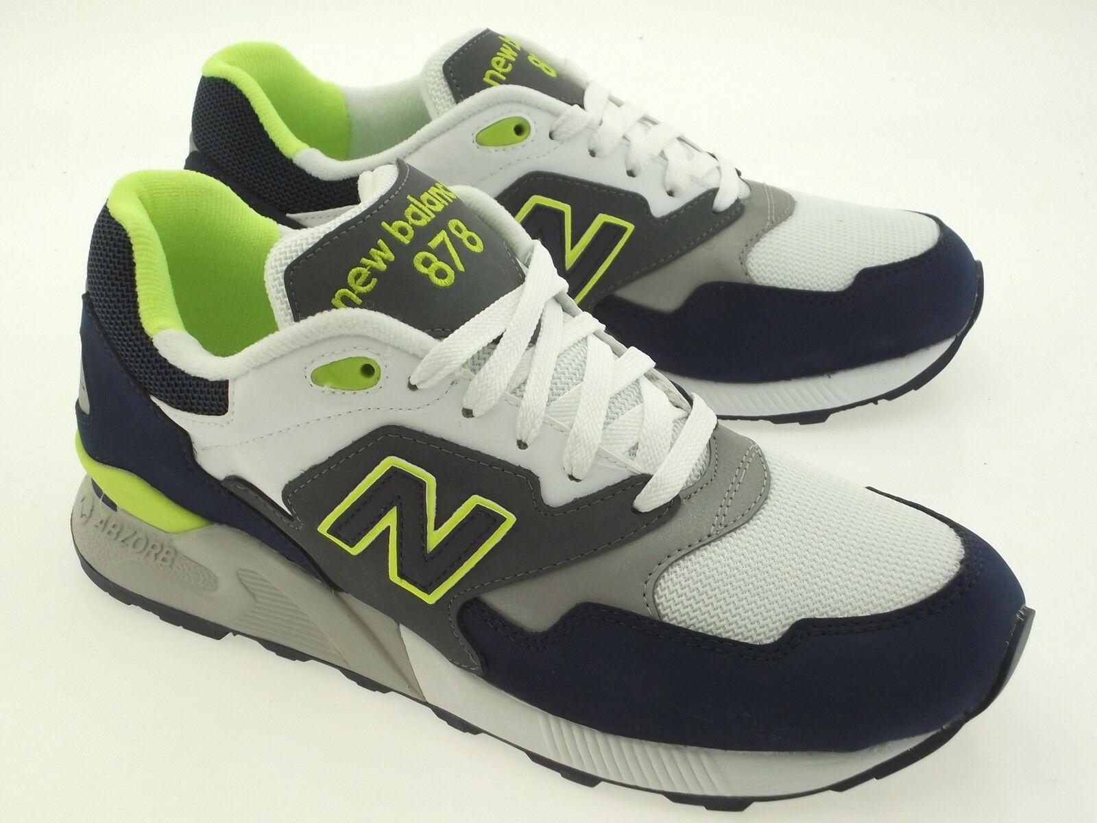 New navy Balance Men 878 90s Running ML878AAE navy New Grau lime green ML878AAE 56645f
