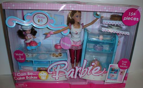 Muñecas Barbie Y Kelly que puedo ser Pastel Baker Giftset Mattel 2006 Nuevo Caja de daños