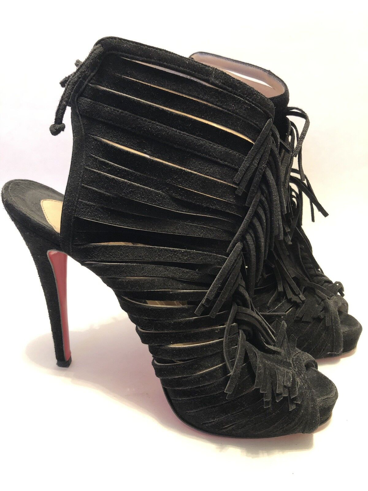 Christian Louboutin Booties 36.5 Black Suede Suede Suede 91c3c4