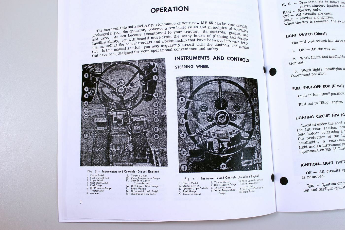 Set Massey Ferguson 65 Tractor Service Parts Catalog Operators Case 990 Starter Switch Wiring Diagram Manual Shop Book Ebay