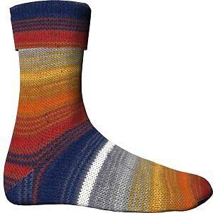 € 4,95// 100g H+W Comfort Cotton Stretch Color Sockenwolle Regenbogen 417