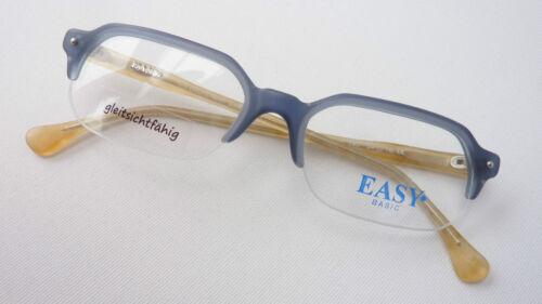 blu senza in Telaio inferiore Grigio plastica Occhiali Lenti Taglia Quadrato piccole bordo M vaHw1Sx