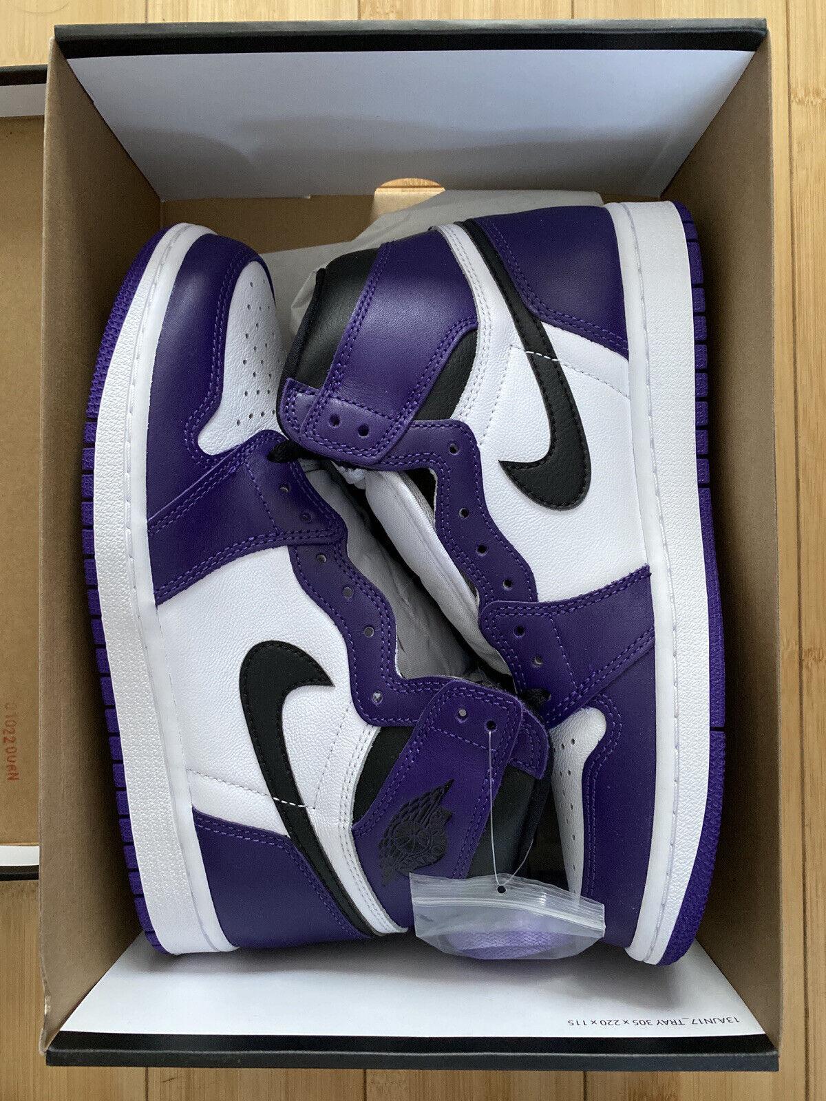 Jordan 1 Retro High Court Purple White - Size UK 6.5 US 7.5