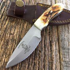 Bone Collector Hand Made Real Deer Bone Handle Skinning / Hunting Knife BC808