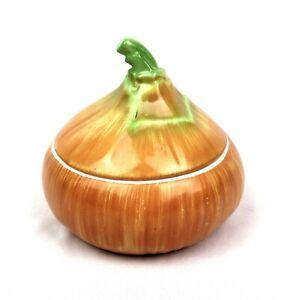Very Rare Vintage Mid Century Figural Czechoslovakia Ceramic Garlic Keeper Pot L
