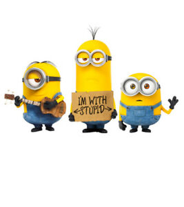 Despicable Me Minions - I/'m With Stupid Official Mens T Shirt