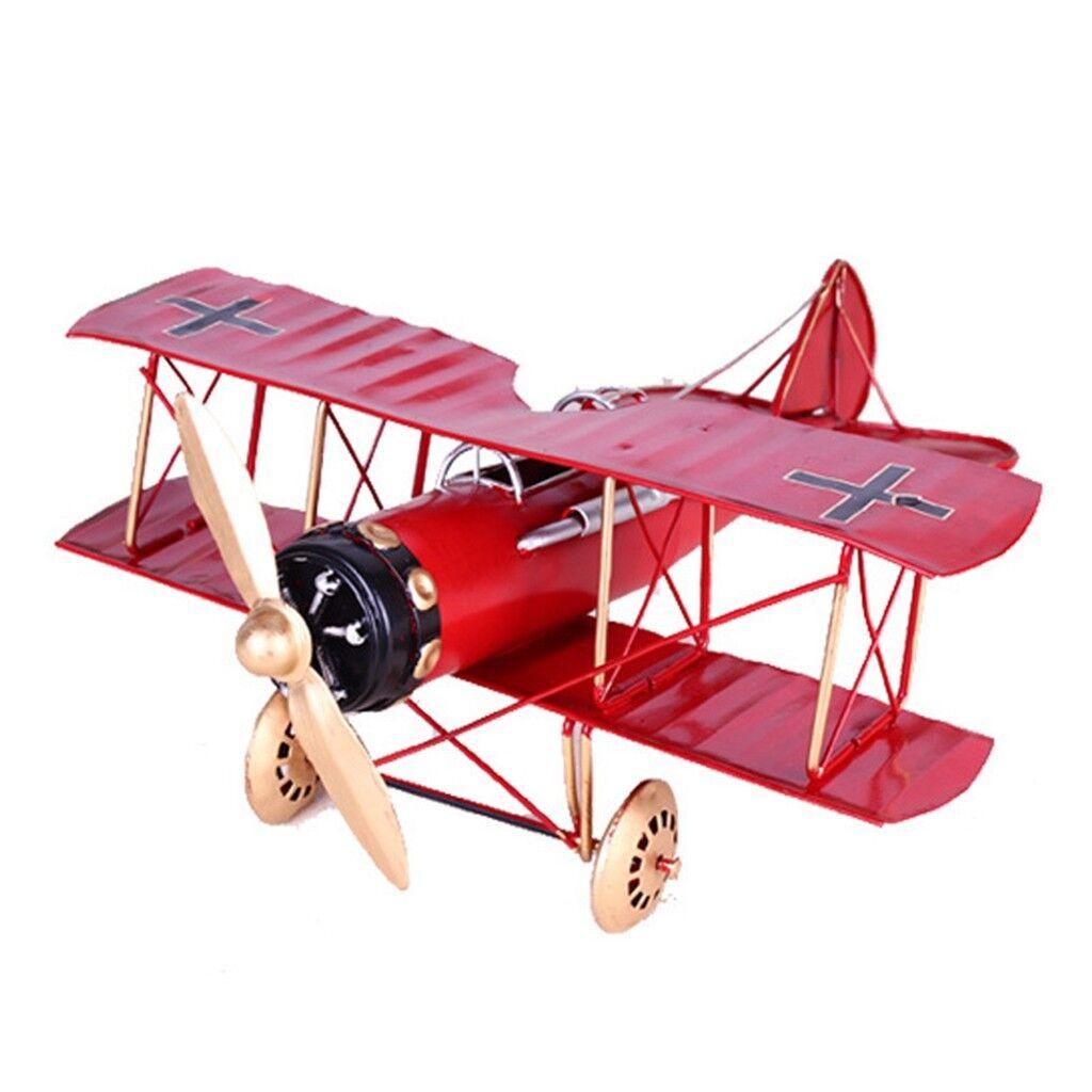 [PF] Metall leksak Decoration militär- flygagagplan Biplant Hem årgång Airplan modelllllerler