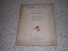 1924.échelles de Soie / Jean Pedron.envoi autographe.Othon Friesz