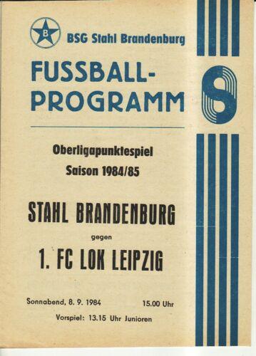 OL 84//85 Stahl Brandenburg 1 FC Lok Leipzig