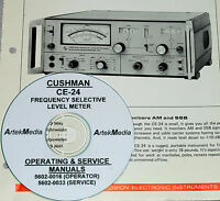 Cushman Ce-31a & Ce-31b Fm Communications Monitor Operating & Service Manuals