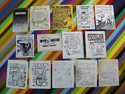 Williams Feazell Bob Lewis 8 pager types J.R vtg 1980s underground mini comic
