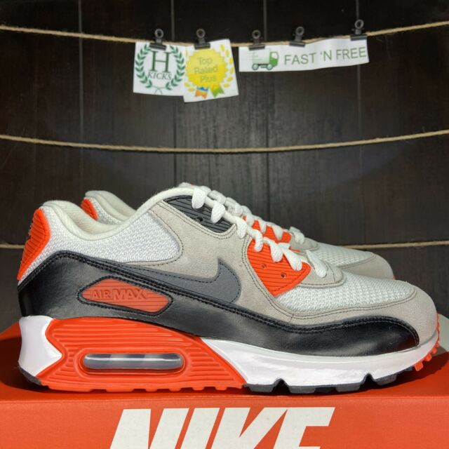 Heredero recluta caja de cartón  Nike Air Max 90 Infrared 2015 (GS) White Cool Grey Black Red 724882 100  Size 7 Y for sale online