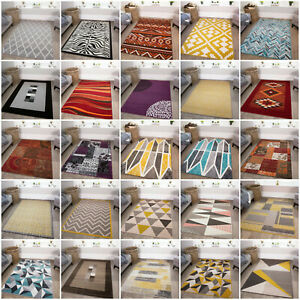 SMALL-MEDIUM-LARGE-MODERN-RUGS-EASY-CLEAN-RED-BLUE-PURPLE-RUG-CHEAP-LOUNGE-MATS