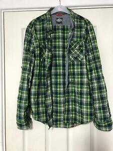 Superdry-Vert-Chemise-Decontractee-Taille-M-pour-femme-a-manches-longues-grande-D903