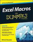 Excel Macros for Dummies by Michael Alexander (Paperback, 2015)