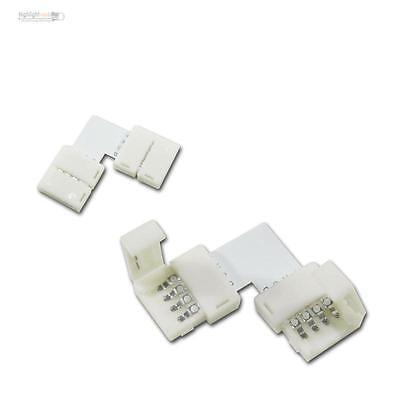 Eckverbinder für RGB SMD LED Stripe Streifen Schnellverbinder, L-Verbinder 10mm